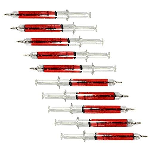 com-four® Kugelschreiber Spritze Stift (10er (10 Arzt Kostüm)