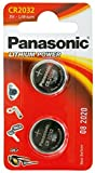 Panasonic 404 Lithium Knopfzellen Batterie CR 2032