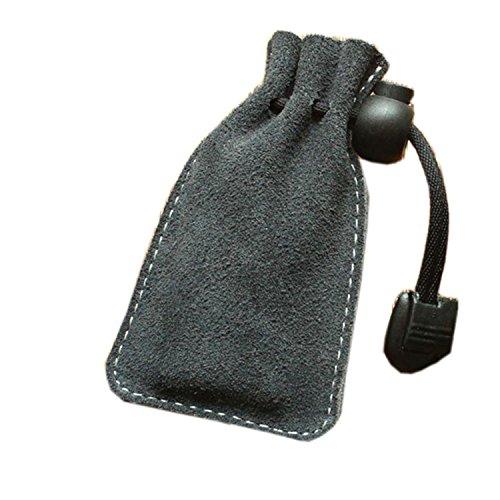 Luxus Premium Handgefertigt Kordelzug Scrub Leder Kopfhörer Schlüssel Laden Feuerzeug Halter Taschen mit Bead Lock