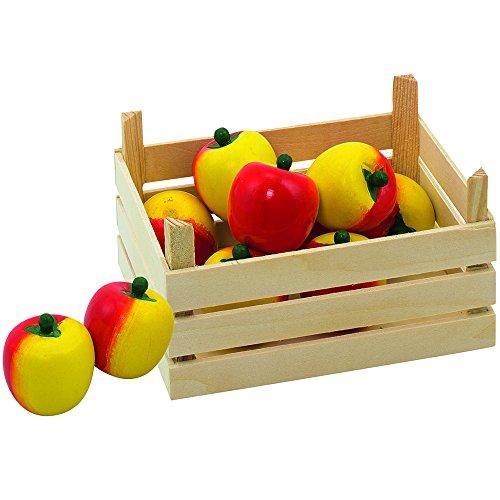 Goki 51665 - Kaufläden und Zubehör - Äpfel, Obstkiste
