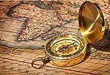 ARINO Taschenkompass Kompass Wasserdichter Messingkompass Klassischer Marschkompass Suunto mit Leuchtziffern für Camping Marsch Outdoor Geschenk SUUNTO -