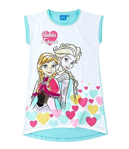 Anna Sommer-kleid (Disney Die Eiskönigin Elsa & Anna Mädchen Nachthemd - weiß - 104)