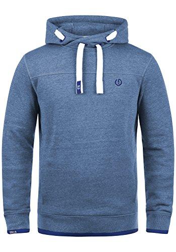 SOLID Benjamin Hood Herren Kapuzenpullover Hoodie Sweatshirt mit Kapuze aus hochwertiger Baumwollmischung Meliert, Größe:M, Farbe:Faded Blue Melange (1542M)