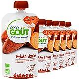Good Goût - BIO - Gourde de Légumes Patates Douces dès 4 mois - 6 gourdes 120 g