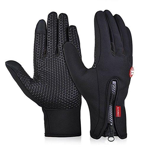 Limirror Touchscreen Handschuhe Fahrradhandschuhe Sports Handschuhe mit Touchscreen Handschuhe (Schwarz, S)¡