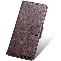 Étui multifonctionnel pour téléphone, Premium Retro Zipper Folio Flip Card Slots Porte-monnaie avec étui rigide magnétique pour Samsung S8 / S8 Plus