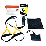 Maidian Body Weight Resistance Straps Kit professionelle Fitness Workouts für Zuhause Reisen und Outdoor (Gelb)