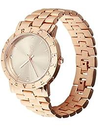 Charlotte raffelli reloj de pulsera para mujer oro rosa PVD pulsera plata Dial crm002