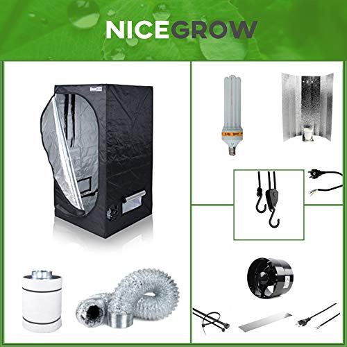 Growset Dark Box Serie 80 ESL150W Blüte Komplettset Set Grow ESL Growbox