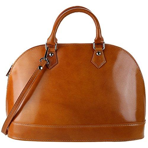 Olivia - Sac à main en cuir Marron VENISE N1063 Sac cuir de haute qualité - marron 1063, Cuir