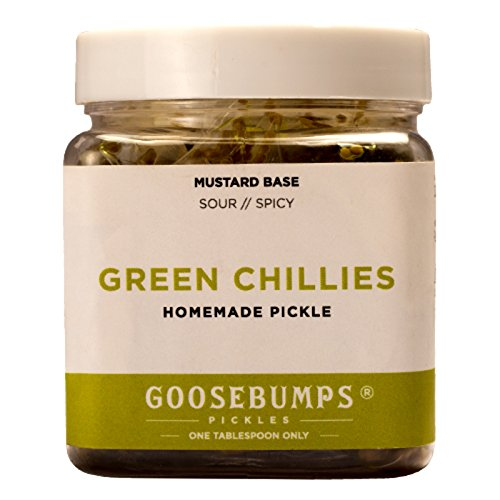 Goosebumps Homemade Green Chillies Pickle 250g