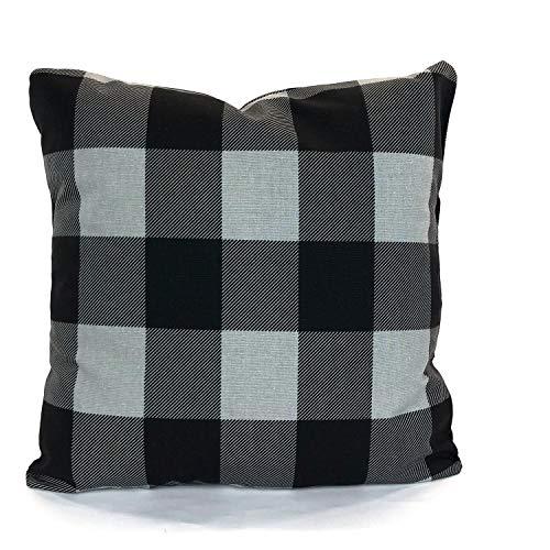 Claude6yhAly Farmhouse Gray Black Buffalo Check Dekorative Wurf Pillow Covers Kissen Grauer schwarzer Buffalo Check Couch Bed Sofia Verschiedene Gr??en