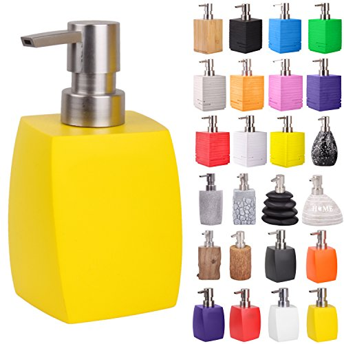 Premium Soap Dispenser | Wide choice of beautiful lotion dispenser | Easy to refill | Nice eyecatcher (Wave Yellow)