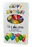 KCB 5060-04 - Geburtstagsteelichter Happy Birthday, 13-teilig