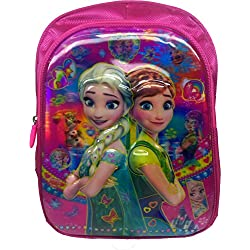 3D Frozen Fever Elsa And Anna Disney Cinderella, Princess, Princesa, Barbie, Pink Children's / kid's Backpack water proof, school bag for class / standard Pre Nursery, Nursery, KG, LKG, UKG, first 1st, second 2nd, 3rd third, class girls