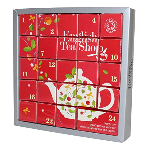 """Preisvergleich Produktbild English Tea Shop - Tee Adventskalender """"Pink Christmas"""",  24 einzelne Boxen mit würzigen BIO-Tees in hochwertigen Pyramiden-Teebeutel"""