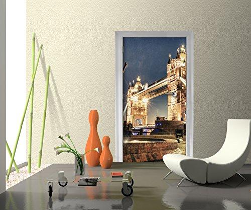 Türtapete London Tower Bridge England Tapete Kunstdruck Türbild M0249 | 70  X 200cm (B X