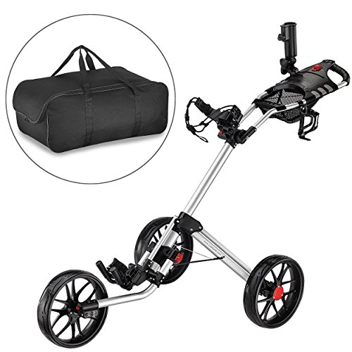 Caddytek Quad pliage chariot de golf 3 roues Super Deluxe et...