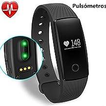 Willful Seguidor de Fitness Pulsera Inteligente con Corazón Tarifa Monitor Bluetooth Reloj Inteligente Deporte Actividad Rastreador de monitor de pulso cardiaco/contador de calorias/monitor de sueño/contador de pasos/reloj,Compatible con iOS, Android Smartphone Soporta Llamada Mensaje SIM