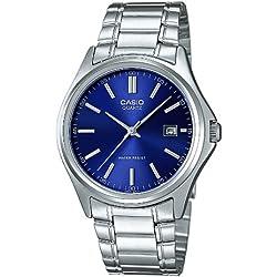 Casio-MTP - 1183PA - 2A Classic Men's Watch Analogue Quartz Black Dial Steel Strap Grey Blue