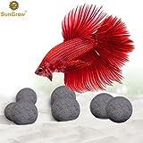SunGrow - Palline minerali per rafforzare la bilancia dei pesci - Migliora il colore dei pesci - perle grigie ricche di calcio per acquari d'acqua dolce - ottimo equilibrio nutriente - decorazione