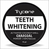 #8: Trycone Coconut Shell Activated Charcoal Instant Teeth Whitening Powder   SLS and Fluoride Free   100% Natural - 50 Gm