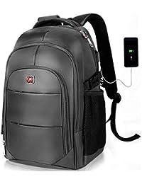 YAMTION Mochila para Portátil(9 Colores),Unisex Mochila para Ordenador hasta 15,6 Pulgadas con USB Puerto Impermeable Mochila Escolar,40L Mochila Negocios