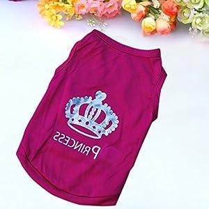 Gilet T-shirt Vêtement Sans Manches Imprimé 'Princess' Pour Animaux De Compagnie Pet Chien Chat