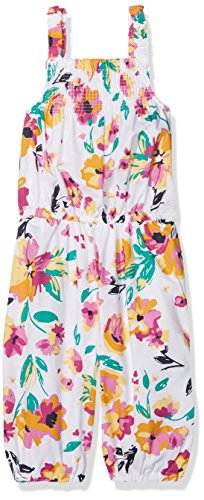 NAME IT NAME IT Mädchen NMFVALAIA Knickers Playsuit Overall, per Pack Mehrfarbig (Bright White AOP: Big Flowers), 110 (Herstellergröße: 110)