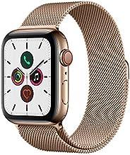 Apple Watch Series 5 (GPS+Cellular, 44 mm) Cassa in Acciaio Inossidabile Oro e Loop in Maglia Milanese - Oro