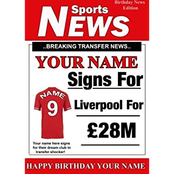 Liverpool fc liverpool fc liverbird musical birthday card amazon a5 personalised liverpool football greetingbirthday card any name and age reheart Images
