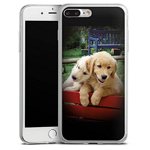 Apple iPhone 8 Slim Case Silikon Hülle Schutzhülle Golden Retriever Welpen Hund Silikon Slim Case transparent