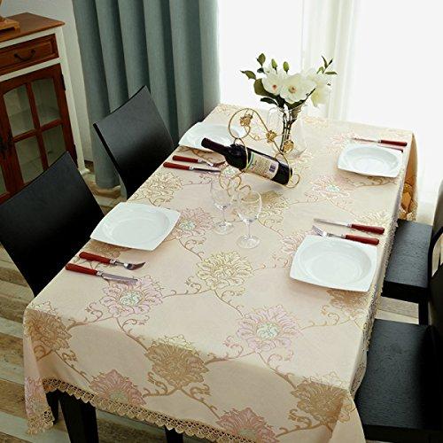 LTCGDB Tissu Rectangulaire Restaurant Table Basse De Salon Nappe De Mariage Pique-nique Lavable,A-85*85cm