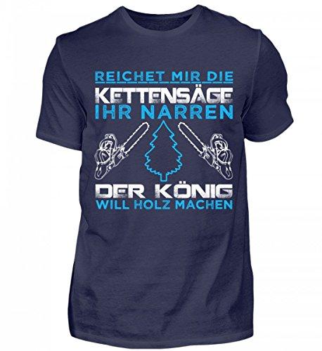 Hochwertiges Herren Shirt - Holz Shirt für Holzfäller / Kettensäge / Motorsäge / Baum / Wald / Säge / Pullover / Jacke / Förster / Landwirt (Tshirt T-shirt Hochwertiges)