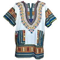 Dashiki maglietta da uomo spiaggia caftano africana Dashiki vari colori taglia (Mens Dashiki)