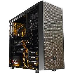 BitFenix Neos Midi-Tower - Case per PC (ATX, 3.5 mm, USB 2.0, USB 3.0), Nero/Oro