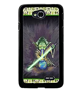 PrintDhaba Cartoon D-3624 Back Case Cover for LG L90 (Multi-Coloured)