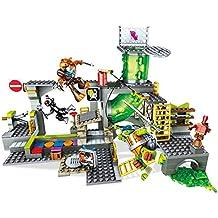 Mega Bloks - Guarida de alcantarillas, Tortugas Ninja, Juego de construcción (Mattel DMX55