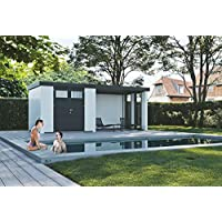 NOVO HABITAT Caseta de Jardin metálica NH6 con Apoyo e Ventanas | Blanco | (268