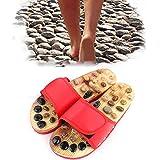 GPF Pantofole Per Massaggio Naturale Per Le Donne D'estate Riflessologia Scarpe Per Il Piede Massaggiatore Pantofola Pantofole Per L'assistenza Sanitaria Pantofole Regolabili In Altezza,37~39