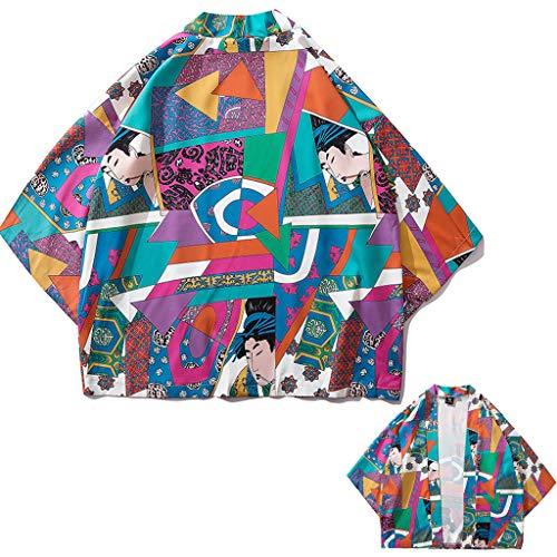 Estate Giapponese Five Point Maniche Kimono Uomini e Donne Mantello Jacke Top Camicett
