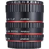 Andoer Coloré Métal TTL autofocus AF Macro Tubes d'extension anneau pour Canon EOS EF EF-S 60D 7D 5D II 550D