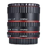 Andoer Bunte Metall TTL Autofokus AF Macro Extension Tube Ring für Canon EOS EF EF-S 60D 7D 5D (rot)