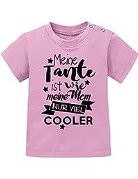 Mikalino Baby / Kinder T-Shirt Meine Tante ist wie meine Mom, nur viel cooler kurzarm