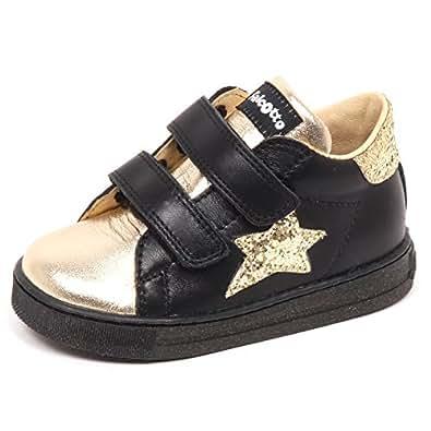 Falcotto E5968 Sneaker Bimba Black Scarpe Strappi Primi