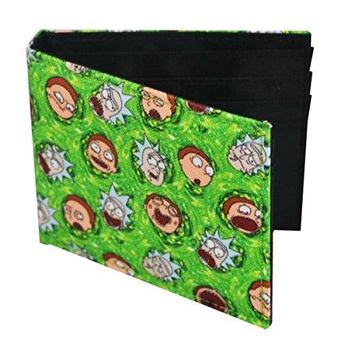 Rick y Morty bolso al 10,8x8,6x1cm verde de impresión