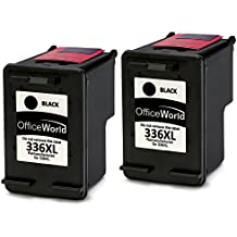 OfficeWorld Remanufactured HP 336 Negro Cartuchos de tinta Compatible para HP Photosmart 2713 2710 2575 C3180 8150 D5160, HP Officejet 6310 6313 6315, HP Deskjet 5440 5420 5420v 5432