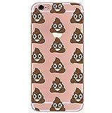 Freessom Coque IPhone 6/6s Silicone Transparente Avec Motif Emoji Singe Caca Drôle...