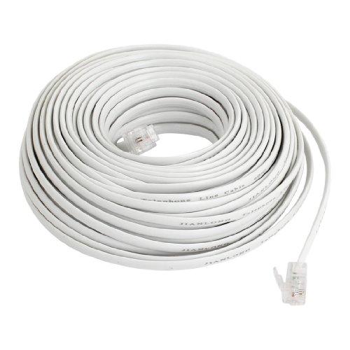dslkabel Weiß flexible RJ116P2C Telefon, Kabel 20m