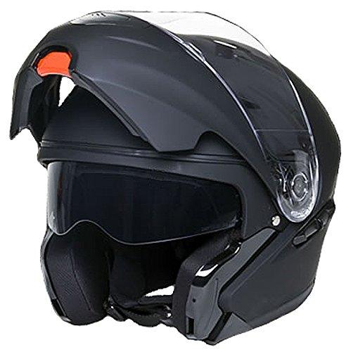 Klapphelm Integralhelm Helm Motorradhelm RALLOX 109 schwarz/matt mit Sonnenblende (S, M, L, XL) Größe L - 2